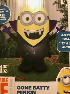 Batty Minion Dave Halloween Airblown Inflatable Bat Costume Minions Rare 4 5 Ft 86786750384 Ebay