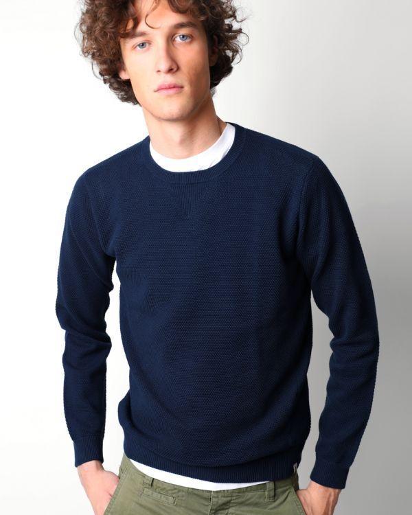 Scalpers Terranova Tricot Navy Blau Sweater Small TD181 AE 03