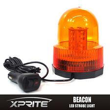 30 LED Emergency Vehicle Magnetic Flash and Rotating Beacon Warning Light Amber