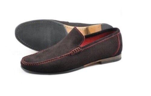 Loake Nicholson Dark Brown Suede, slip on, mens, leather, suede, rubber sole