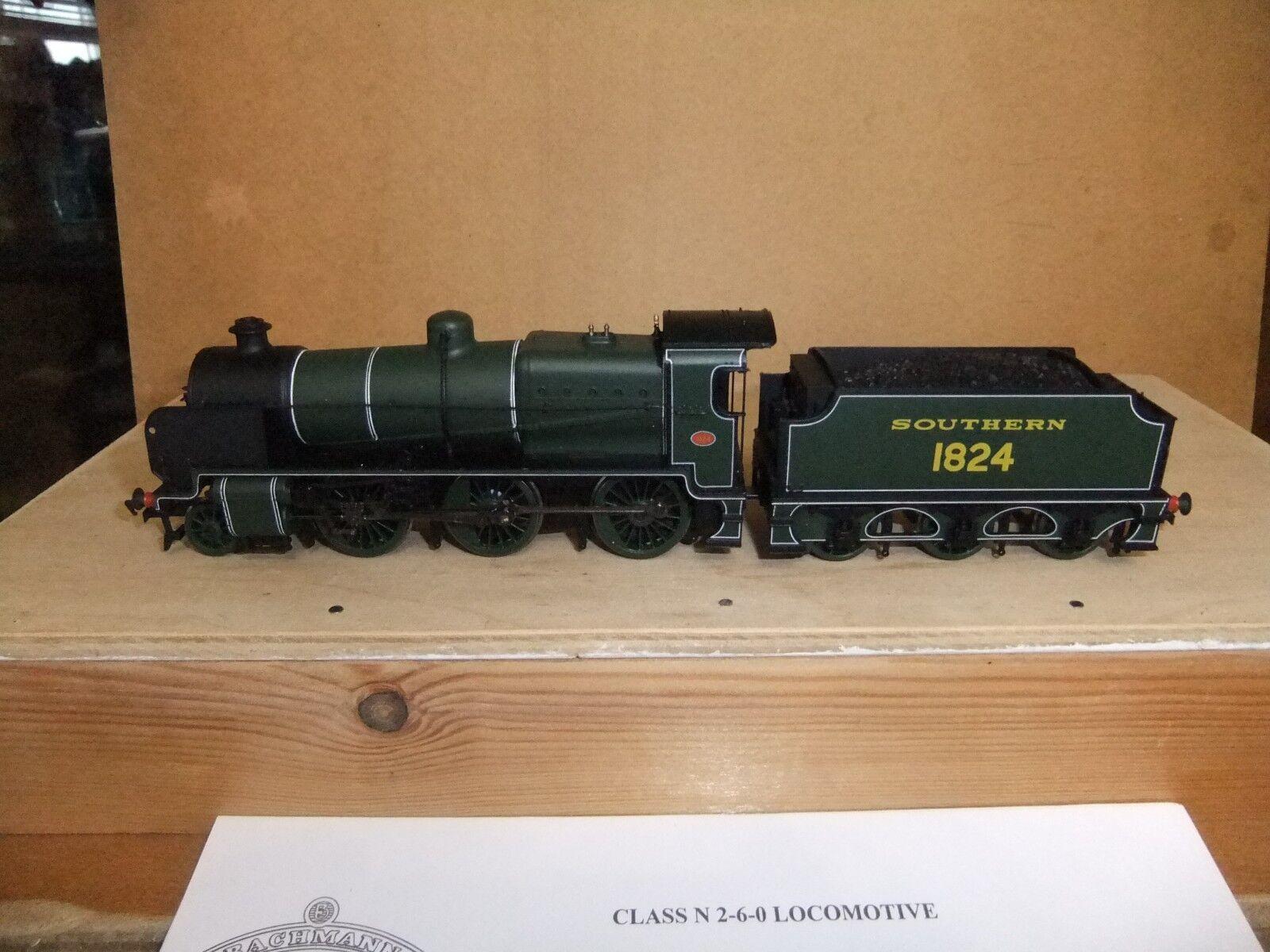 Bachmann 32-153 SR Lined Grün N class Loco 1824, Boxed