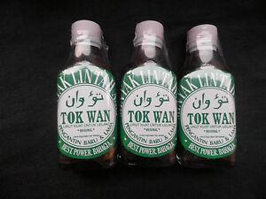3 X 30 Ml Glass Bottles Leech Oil Minyak Lintah Improves