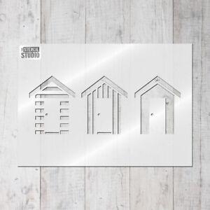Détails Sur Plage Huttes Réutilisable Mur Pochoir Bord De Mer Salle De Bains Stencils For Home Decor 10015 Afficher Le Titre D Origine