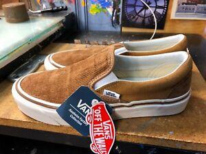 Vans-Classic-Slip-On-98-Anaheim-Factory-OG-Hart-Brown-US-9-Men-039-s-VN0A3JEXUM4-New