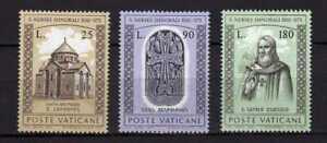 S25479) Dealer Stock Vatican 1973 MNH S.Narses 3v (X10 Sets)