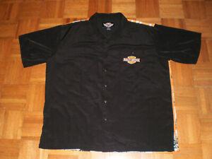 Mens-Harley-Davidson-Button-Down-Shirt-XXL-Motorcycle-Chopper-Garage-Embroidered