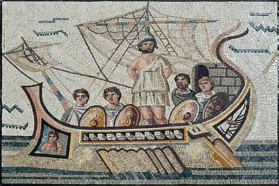 Roman Mosaic Of Ulysses Reproduction