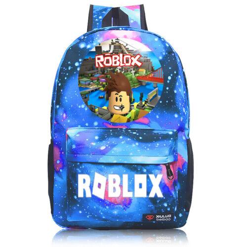 Roblox Galaxy Backpack Kids Boys Girls School Bag Bookbag Handbags Travelbag UK