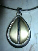 With Tags, Monet Silver Tone Omega Necklace With Pendant