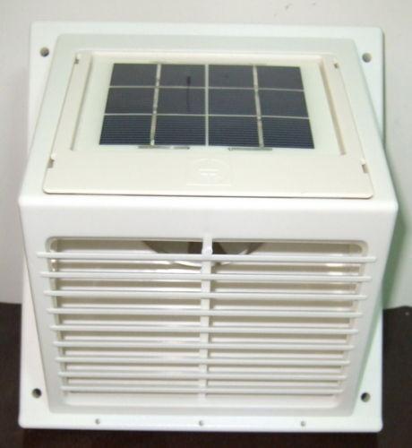 Jour//Nuit SWF 103 Solaire Ventilateur Mur Ventilateur SWIITCH toilette Blanc cuisine etc
