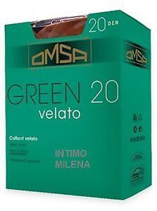10-PAIA-COLLANT-OMSA-GREEN-20-DEN-CLASSICO-VELATO-TAGLIE-2-3-4