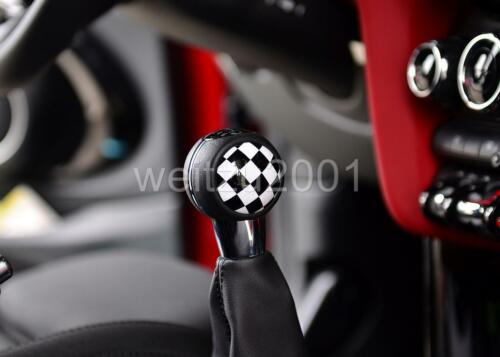 Racing Checkered Manual shift knob badge Trim for 2014 on MINI COOPER S F54-F57