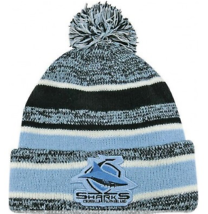 4a9a94cd71d Image is loading Cronulla-Sharks-NRL-Dynamo-Knitted-Winter-Beanie-with-