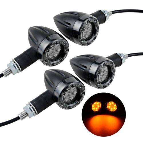 4x Universal Motorcycle LED Amber Lamp Rear Turn Signal Brake lights Indicator R