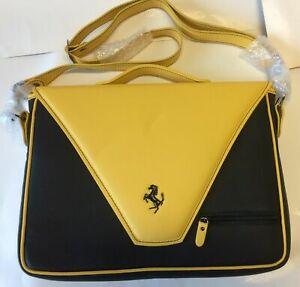 GENUINE-New-Ferrari-Factory-Laptop-Tablet-Carrier-Black-Yellow-P-N-70004629