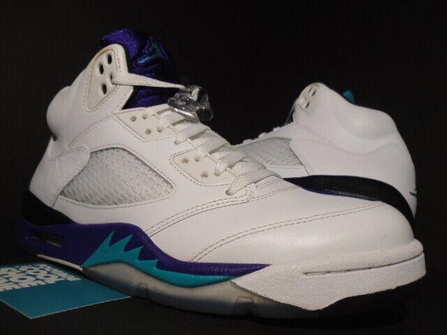 online store 9a0a9 09188 Nike Air Jordan V 5 Retro White Grape Emerald 136027-108 Size 11