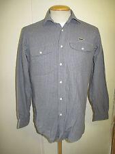 "Genuine Vintage Men's Lacoste Blue Cotton Shirt Long Sleeved S 36"" Euro 46"
