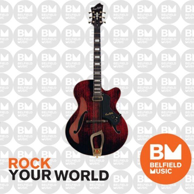 Hagstrom HL550 Electric Guitar Jazz Hollow Body Natural Mahogany Gloss Hardcase