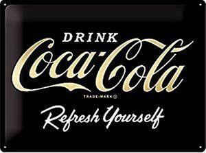 Coca-Cola-Refresh-Selbst-Gepraegt-Sonderedition-Metall-Schild-400mm-x-300mm-Na