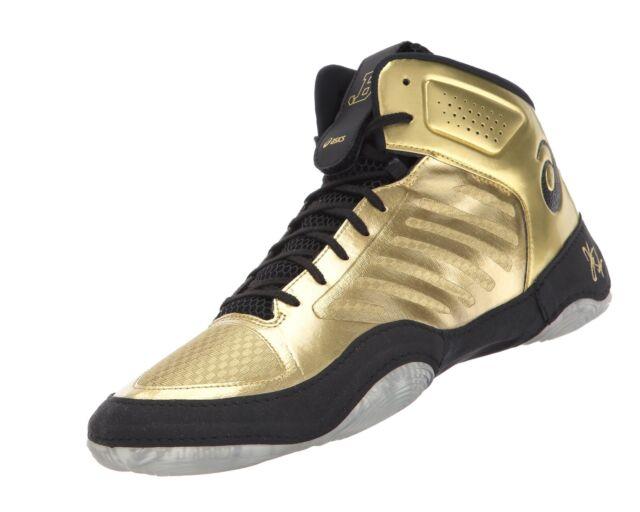 official photos 2e92b 19de4 ASICS Mens JB Elite III Wrestling Shoe Rich Gold black 9 M US for sale  online   eBay