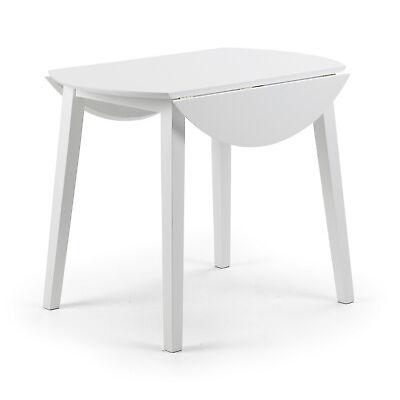 COAST WHITE DROP LEAF DINING TABLE  Malaysian Hardwood with MDF