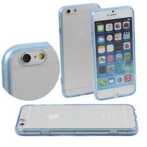 5-x-LIGHT-BLUE-HARD-BACK-CASE-FITS-iPHONE-6-APPLE-4-7-CLEAR-TPU-BUMPER-M46