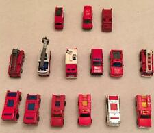 Lot of 15 Vintage Fire Trucks & Rescue Hot Wheels Matchbox Tomica Midget, Maisto