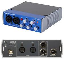 Presonus Audiobox USB, scheda audio 2 in-out, MIDI, in line e mic phantom 48v