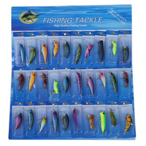 30-X-metallo-Spinners-Pesca-Esche-Ciprinidi-luccio-Bass-trota-Pesce-Ganci-K1W8