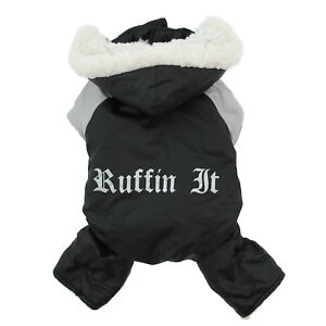 Doggie-Design-Black-and-Grey-Ruffin-It-Dog-Winter-Snow-Suit-Harness-Sizes-XS-L