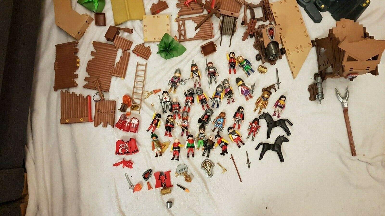 Playmobil - WikingerFestung +Babaren+ Ritter+Zubehör Set Gebraucht