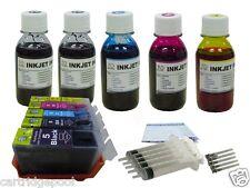 Refillable ink Cartridges for Canon PGI-5 CLI-8 MP800R MP810 MX850  +5x4oz/5s 1P