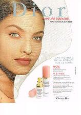 PUBLICITE ADVERTISING   1999   DIOR  cosmétiques soins de la peau