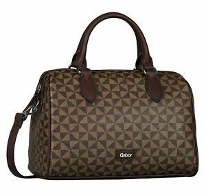 Gabor Barina Bowling bag M Handtasche Umhängetasche Tasche Printed Brown Braun
