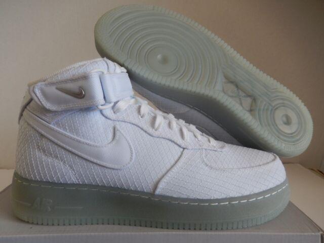e6d1e4bd6b9e2c Nike Men s Air Force 1 Mid  07 Lv8 Shoes White 804609-102 B 9 for ...