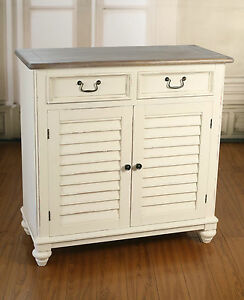 Image Is Loading Buffet Storage Sideboard French Provincial Kitchen  Plantation Style