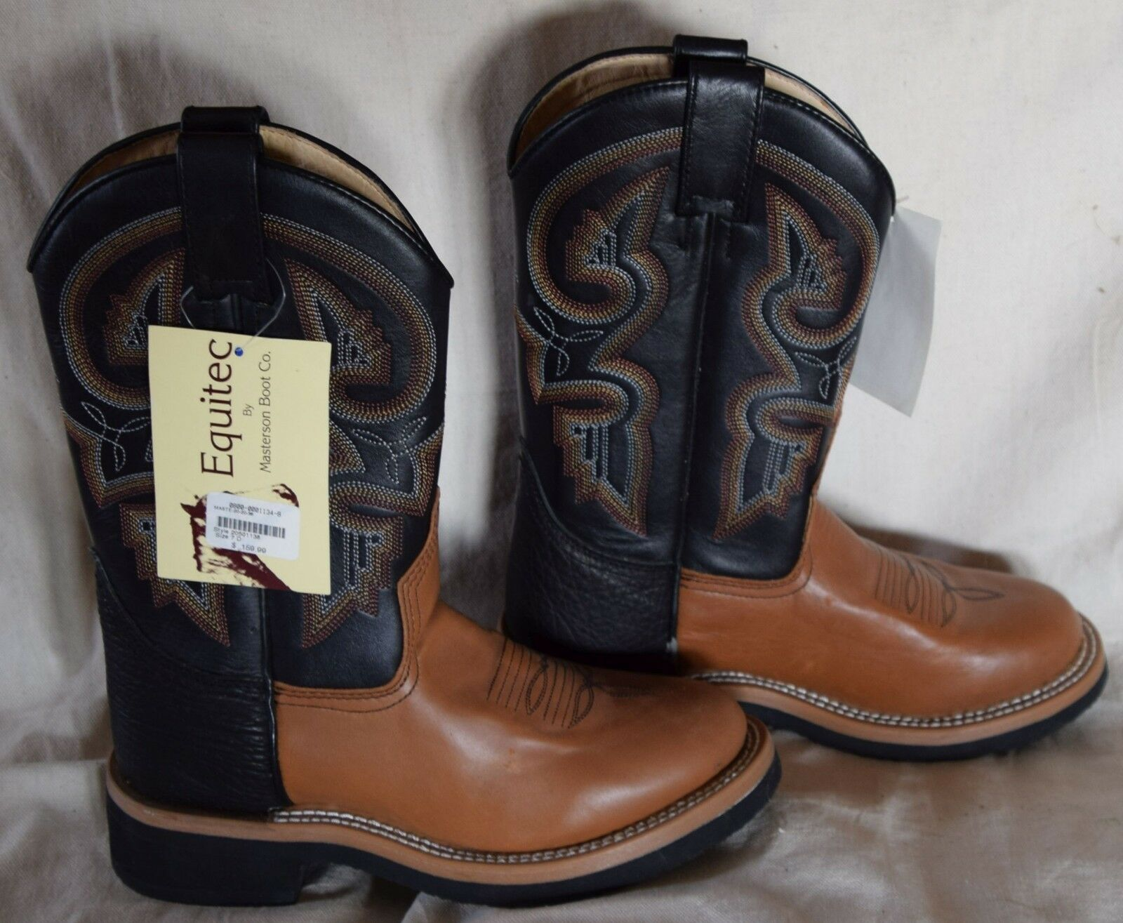 nyA Masterson Boot CO Equitec Cowboy stövlar storlek 7D