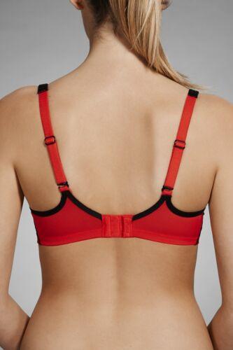 Berlei Electrify Contour Sports Underwire Bra sizes 8A 8B 8C 10A Colour Red