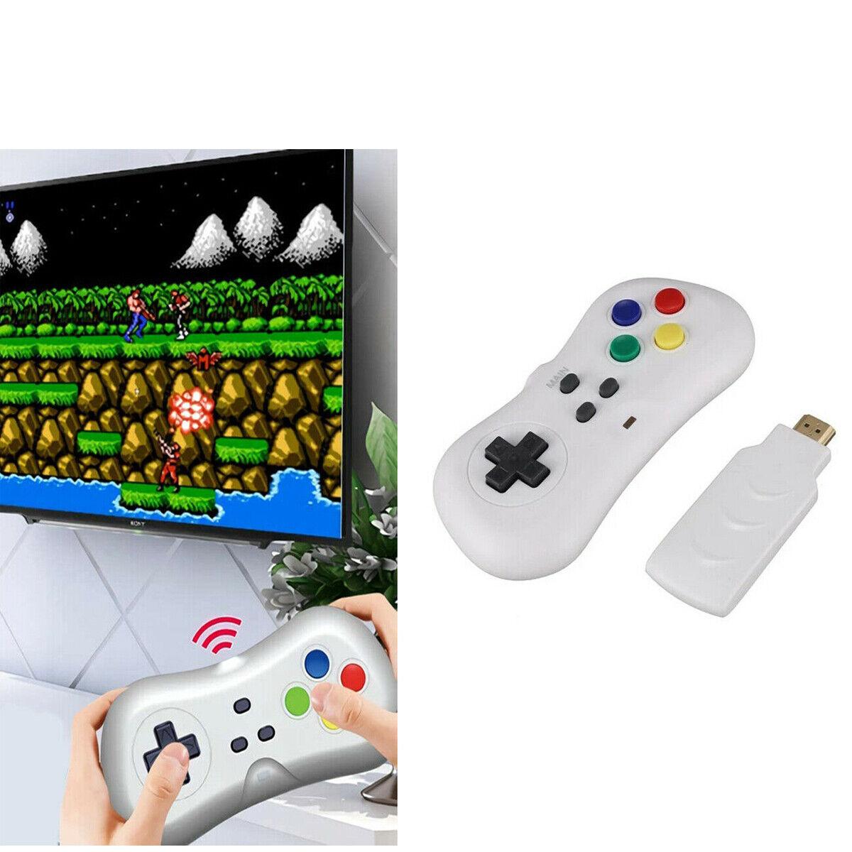 videogiochi e console: MINI TV GAME DONGLE WIRELESS 2.4G JOYSTICK 200 GIOCHI IN 1 CONSOLE RETROGAME A43