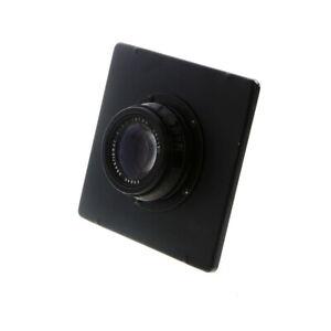 Vintage-Kodak-203mm-f-7-7-Anastigmat-Barrel-Lens-in-4x5-Graflex-Board-UG
