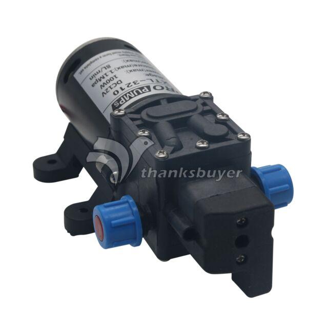 DC 12v 100w 8lpm Diaphragm High Pressure Water Pump for Car Wash Boat Marine