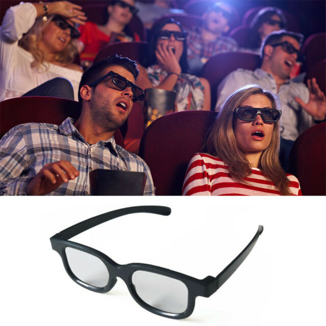 Polarized 3D Glasses Black for 3D Movie DVD LCD Video Game Theatre Circular