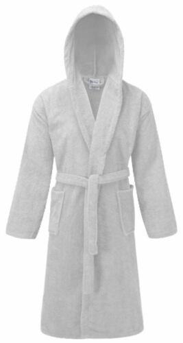 AI COTTON WOMEN MEN LADIES DRESSING GOWN TERRY TOWELLING HOODED BATHROBE UK S-XL