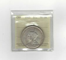 **1935**, ICCS Graded Canadian Silver Dollar **MS-66**