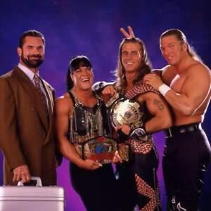 D-Generation-X-Shawn-Michaels-Rick-Rude-Triple-H-Wrestling-Photo-8x6-Inch