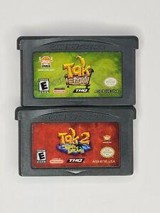 Game Boy Advance Tak & the Power of Juju & Tak 2 The Staff of Dreams Cartridges