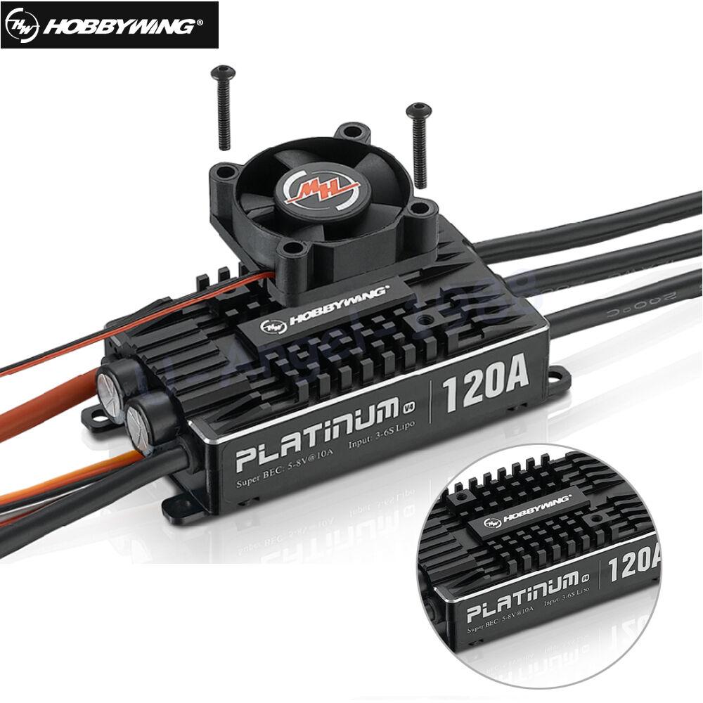 Hobbywing Platinum  Pro V4 120A 3-6S Lipo BEC Empty Mold Brushless ESC for RC  designer online