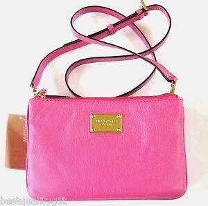 new michael kors item gusset zinnia pink genuine leather crossbody rh ebay com