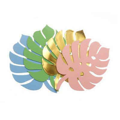DIY 6pc Paper Turtle Leaf Palm Leaves Backdrop Decor Wedding Birthday Home Party