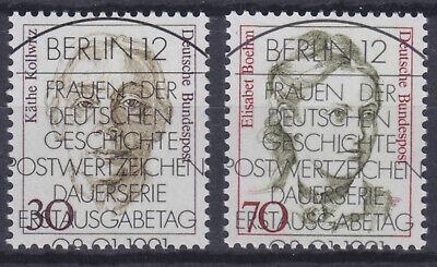 Besorgt Bundesrepublik 1488/89 Sstpl. 30 Und 70 Pfg Freim. Ausg. Frauen, Sonderstempel Angenehme SüßE